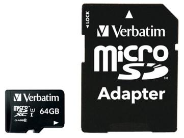 Verbatim 64GB Micro SDXC Class 10 UHS-I + Adapter