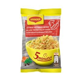 Greito paruošimo makaronų sriuba Maggi, aštri, vištienos skonio, 59,2 g