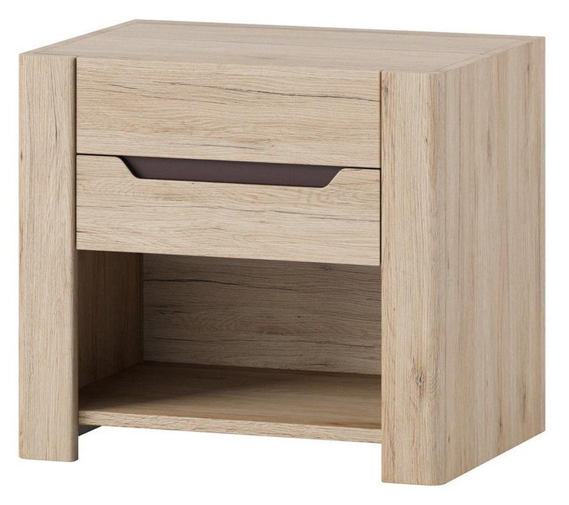 Ночной столик Szynaka Meble Desjo 52, коричневый, 57x42x51 см