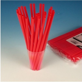 Pap Star Straws 135PCS Red