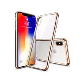 Just Must Mirror Back Cover For Apple iPhone X Gold