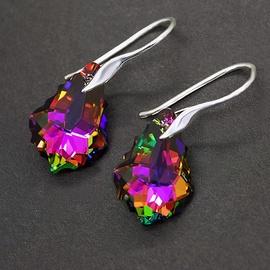 Diamond Sky Earrings With Crystals From Swarowski Vitrail Medium