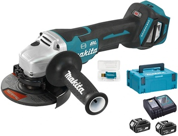Makita DGA518RTJU Angle Grinder with 2 Batteries