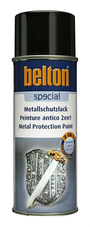 Aerozoliniai metalo dažai Belton, du viename, sidabro spalva, 400 ml