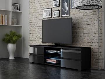 ТВ стол Pro Meble Milano 150 Black, 1500x350x420 мм