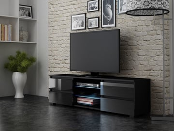 TV galds Pro Meble Milano 150 Black, 1500x350x420 mm
