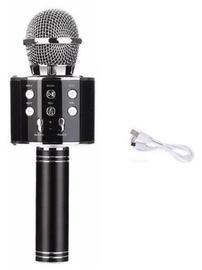 Микрофон караоке - динамик с эффектами изменения голоса, Черный