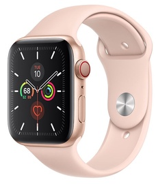Apple Watch Series 5 44mm GPS Gold Aluminum Case with Pink Sand Band Cellular