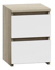 Naktinis staliukas Top E Shop M2 Malwa Sonoma Oak/White