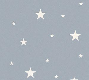 Flizelino pagrindo tapetas As Creation 324403 Il Decoro, pilkas su šviečiančiomis žvaigždėmis