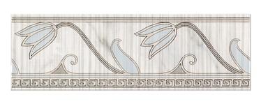 Keraminės dekoruotos sienų juostelės Sara Grey, 25 x 8 cm