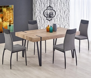 Pusdienu galds Halmar Yohann Oak/Black, 1700x900x760 mm