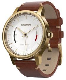 Garmin Vívomove Premium Leather Band Gold-Tone Steel