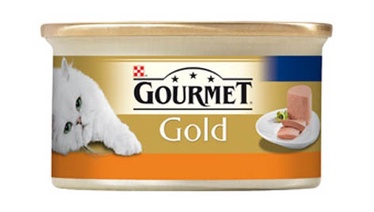 Konservuotas ėdalas katėms Gourmet Gold, su kalakutiena, 85 gr