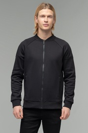 Audimas Mens Cotton Zip-Through Sweatshirt Black XL