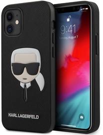 Чехол Karl Lagerfeld KLHCP12LSAKHBK, черный, 6.7 ″