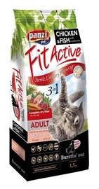 Sausas ėdalas katėms Fit Active 3 in 1, su vištiena ir žuvimi, 1.5 kg