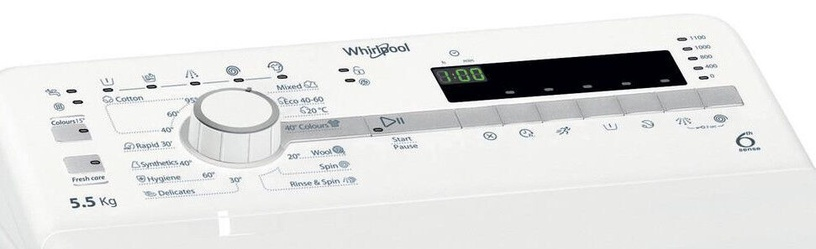 Skalbimo mašina Whirlpool TDLR55120SEUN
