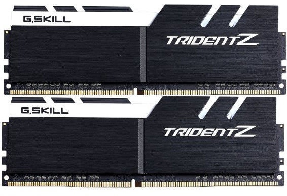 G.SKILL Trident Z Black/White 32GB 3200MHz CL14 DDR4 KIT OF 2 F4-3200C14D-32GTZKW