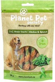 Planet Pet Society Meaty Snacks Chicken & Spinach 70g