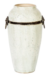 Home4you Leon Ceramic Vase 35cm White