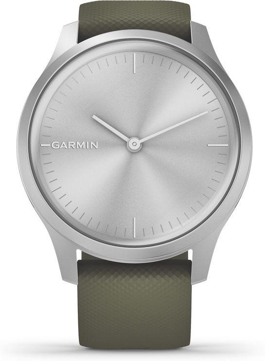 Garmin Vivomove 3 Style 42mm Silicone Silver Green