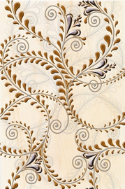 Keraminės dekoruotos plytelės ELENA KAPRIZ ORANGE, 30x20 cm