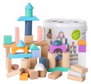 EcoToys Wooden Blocks 50pcs 2506