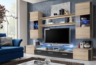 Dzīvojamās istabas mēbeļu komplekts ASM Fresh Sonoma Oak/Graphite