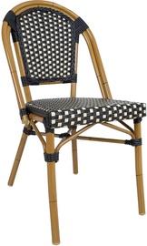 Home4you Bambus Garden Chair Black/Beige