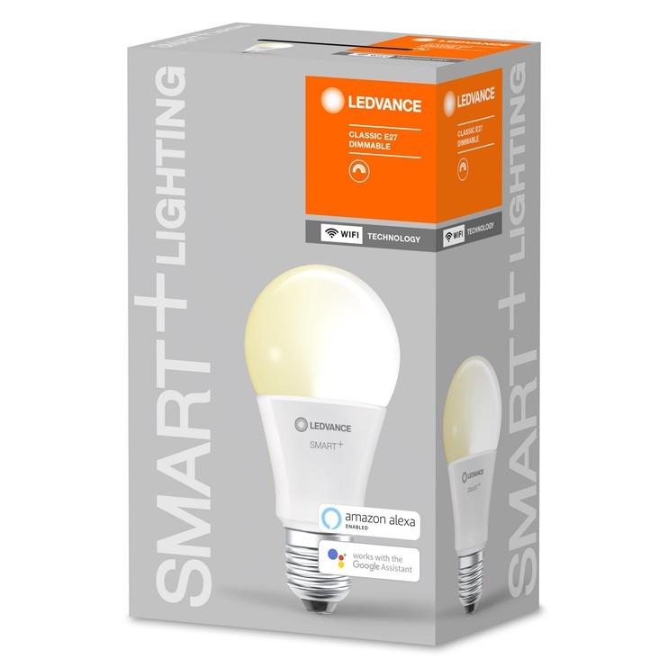 Viedā spuldze Ledvance LED, E27, A60, 9 W, 806 lm, 2700 °K, silti balta, 1 gab.