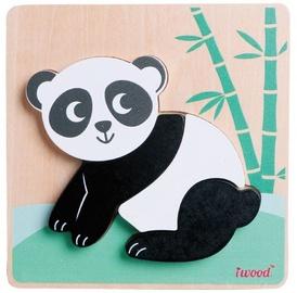 Puzle Iwood Wooden Animal Panda, 3 gab.