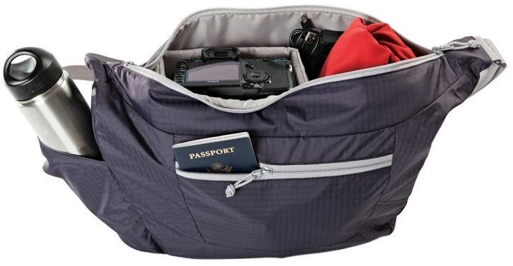 LowePro Universal Camera Bag Photo Sport Shoulder 18l Purple/Grey