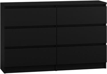 Kumode Top E Shop Malwa 6 M6 Black, 120x30x77 cm