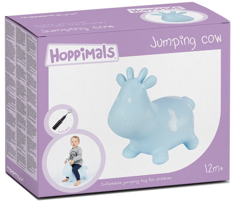 Tootiny Hoppimals Jumping Cow Blue