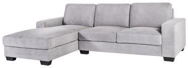 Kampinė sofa Home4you Kendra Light Grey, kairinė, 268 x 165 x 84 cm