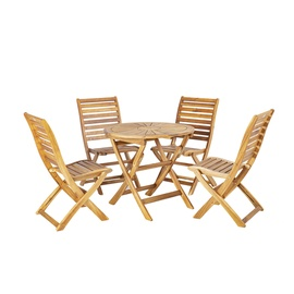 Home4you Cherry Garden Furniture Set Natural K13324