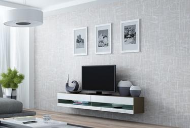 TV staliukas Cama Meble Vigo New 180 Latte/White Gloss, 1800x300x400 mm