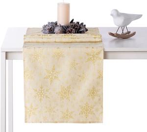 AmeliaHome White Christmas AH/HMD Tablecloth Gold 40x120cm