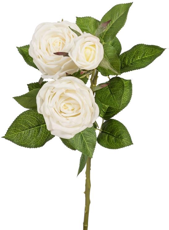 Home4you Artificial Flower Rose H70cm White