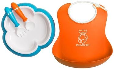 BabyBjorn Baby Feeding Set Orange/Turquoise 078082