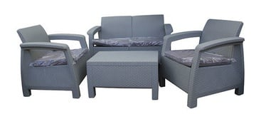 Keter Corfu Garden Furniture Set Light Grey