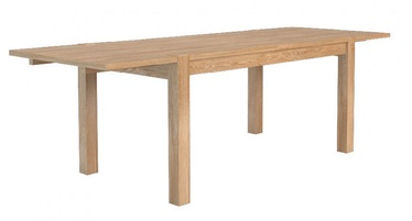 Mebin Corino 130-218 Table With Side Top Extension Natural Oak