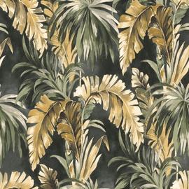 Flizelino pagrindo tapetas Ecodeco EE22530 tamsiai žalias, rudos palmės