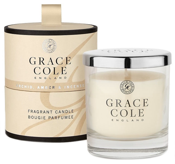 Grace Cole Fragrant Candle 200g Orchid, Amber & Incense