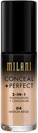 Kreminė pudra Milani Conceal + Perfect 2in1 Foundation + Concealer 04, 30 ml