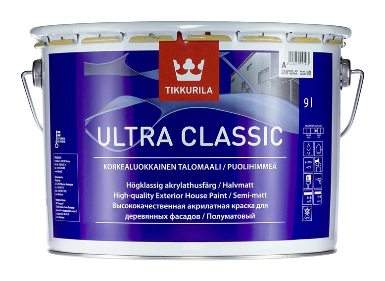Krāsa kokam Tikkurila Classic C, 9 l, 100% akrila