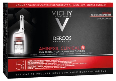 Serumas plaukams Vichy Dercos Aminexil Clinical 5 Men 21 x 6ml