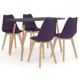 Обеденный комплект VLX 5 Piece Set 3056043, серый/фиолетовый