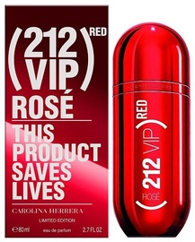 Parfüümvesi Carolina Herrera 212 Red VIP Rose Limited Edition 80ml EDP